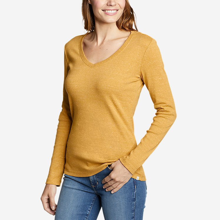 Women's Favorite Long-Sleeve V-Neck T-Shirt large version