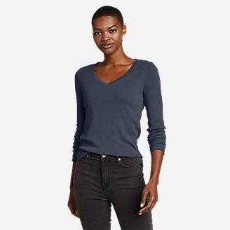 Thumbnail View 1 - Women's Favorite Long-Sleeve V-Neck T-Shirt