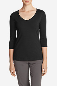 Women's Lookout 3/4-Sleeve V-Neck T-Shirt - Solid
