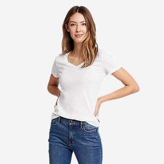 Thumbnail View 1 - Women's Favorite Short-Sleeve V-Neck T-Shirt