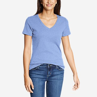 Thumbnail View 1 - Women's Favorite Short-Sleeve V-Neck T-Shirt