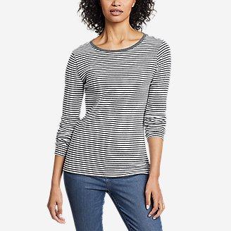 Thumbnail View 1 - Women's Favorite Long-Sleeve Crew T-Shirt - Stripe