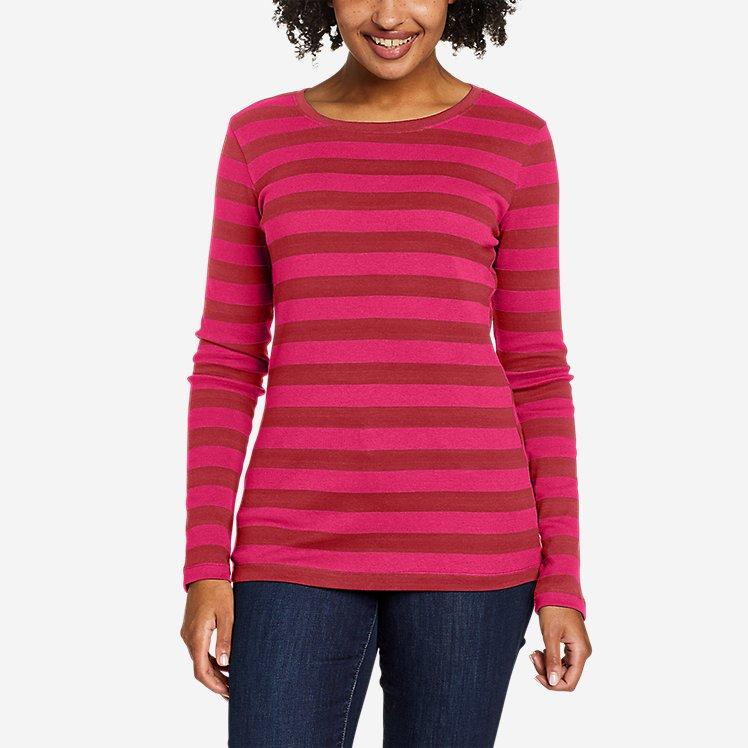 Women's Favorite Long-Sleeve Crew T-Shirt - Stripe large version