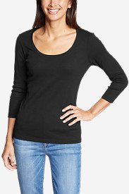 Women's Favorite 3/4-Sleeve Scoop-Neck T-Shirt