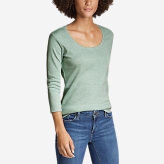 Thumbnail View 1 - Women's Favorite 3/4-Sleeve Scoop-Neck T-Shirt