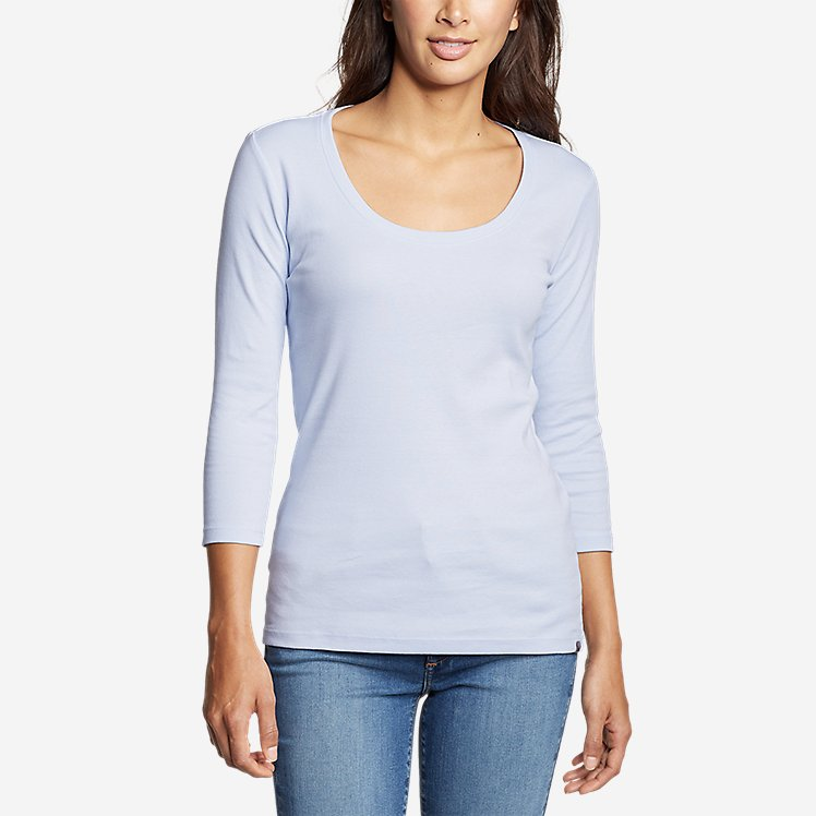 Women's Favorite 3/4-Sleeve Scoop-Neck T-Shirt large version