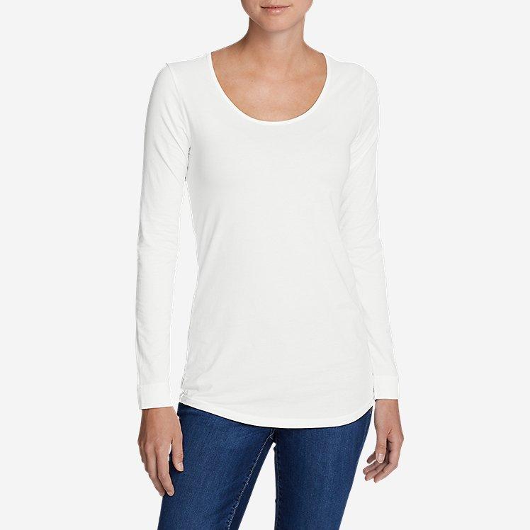 Women's Pima Scoop-Neck T-Shirt - Solid large version