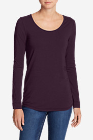 Pima Scoop-Neck T-Shirt - Solid