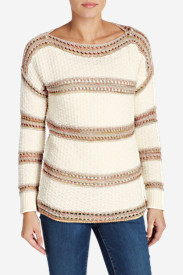 Women's Peakaboo Stripe Pullover Sweater