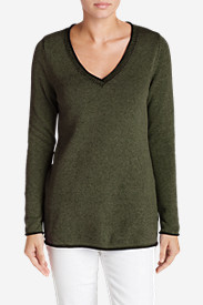 Women's Sweatshirt Sweater - Solid V-Neck
