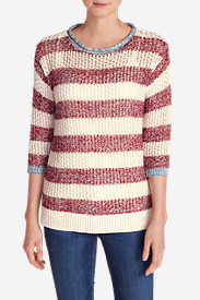 Women's Beachside Pullover Sweater - Stripe