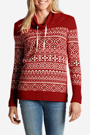 Women's Geo Jacquard Pullover Sweater