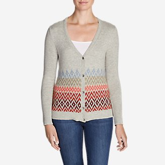 Thumbnail View 1 - Women's Christine Fair Isle Cardigan Sweater