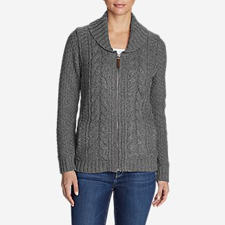 Thumbnail View 1 - Women's Cable Fable Sweater Coat