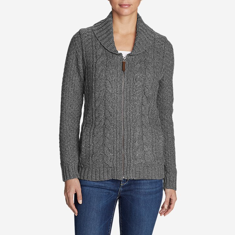 6c65bf355 Women's Cable Fable Sweater Coat | Eddie Bauer