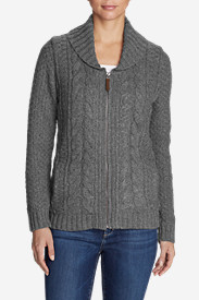 Women's Cable Fable Sweater Coat