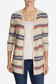 Women's Fiona Boyfriend Cardigan Sweater - Pattern