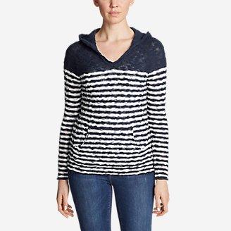 Thumbnail View 1 - Women's Westbridge Hoodie Sweater - Stripe