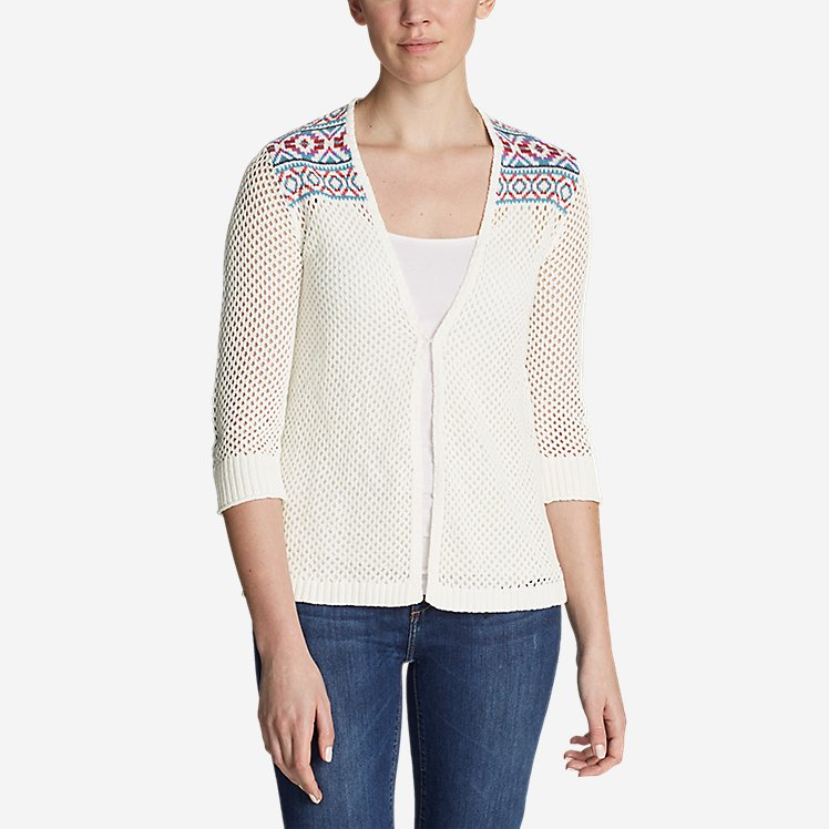 Women's Beachside Cardigan Sweater - Pattern large version