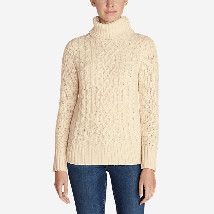 Women's Cable Fable Turtleneck Sweater large version
