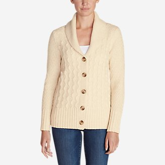 Thumbnail View 1 - Women's Cable Fable Cardigan Sweater