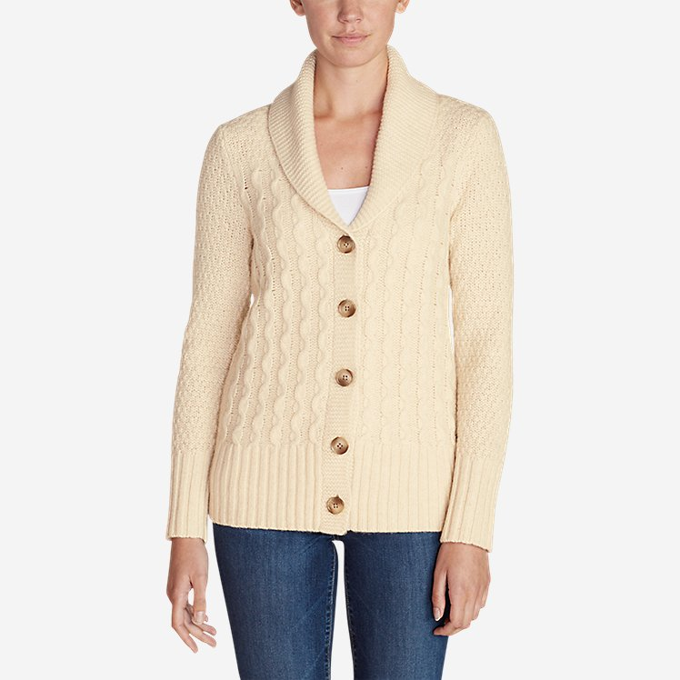 Women's Cable Fable Cardigan Sweater large version