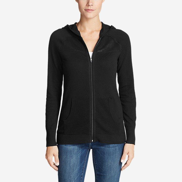 Women's Mesh Hoodie Sweater large version