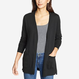 Thumbnail View 1 - Women's Christine Tranquil Long-Sleeve Boyfriend Cardigan