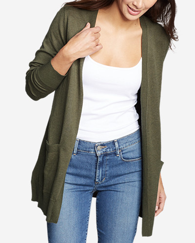 Women's Christine Tranquil Long Sleeve Boyfriend Cardigan by Eddie Bauer