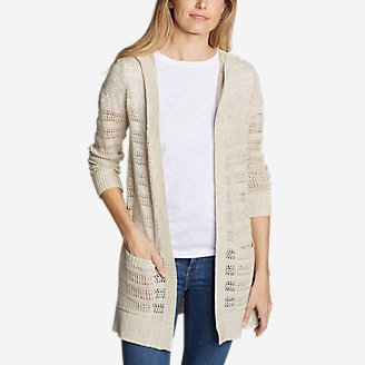 Thumbnail View 1 - Women's Sandshore Hooded Cardigan Sweater