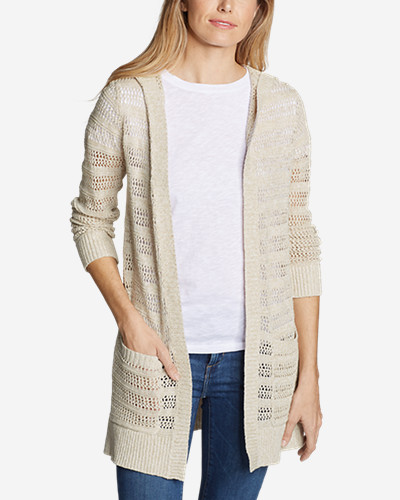 Women's Sandshore Hooded Cardigan Sweater by Eddie Bauer