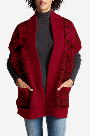 Women's Reindeer Blanket Cardigan Sweater