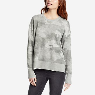 Thumbnail View 1 - Women's Engage Allover-Pattern Crewneck Sweater