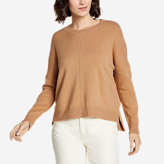 Thumbnail View 1 - Women's Easy Crewneck Sweater - Solid