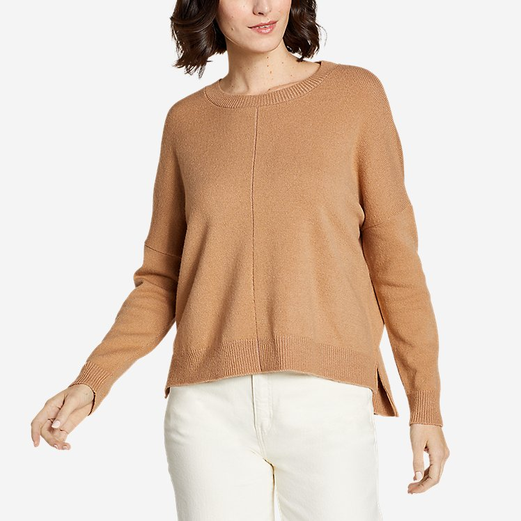 Women's Easy Crewneck Sweater - Solid large version