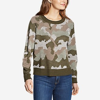 Thumbnail View 1 - Women's Crewneck Pullover Sweater