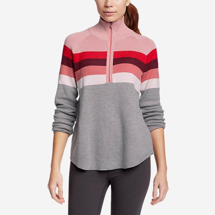 Women's Engage Stripe 1/4-Zip Sweater large version
