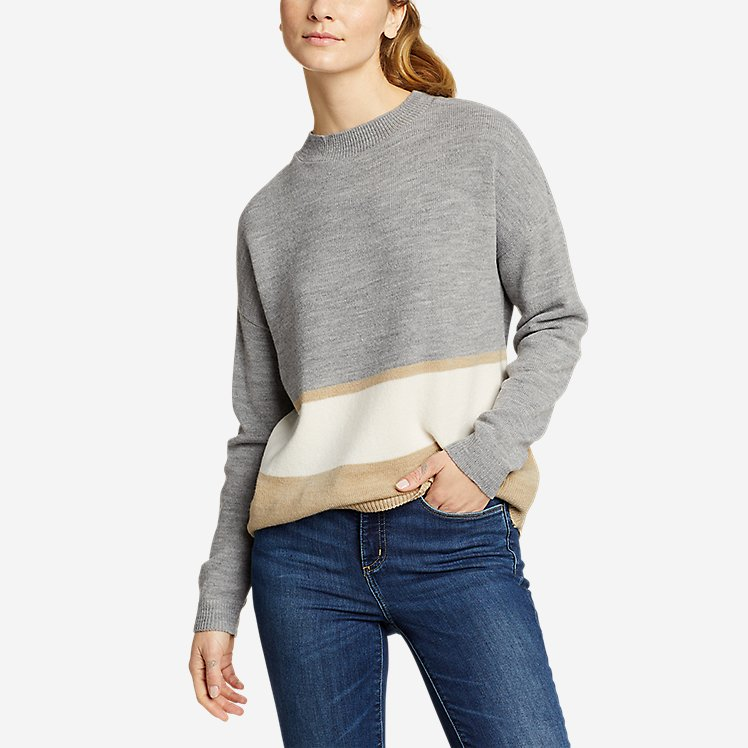 Women's Color-Blocked Pullover Crew large version