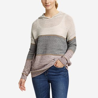 Thumbnail View 1 - Women's Color-Blocked Pullover Sweater