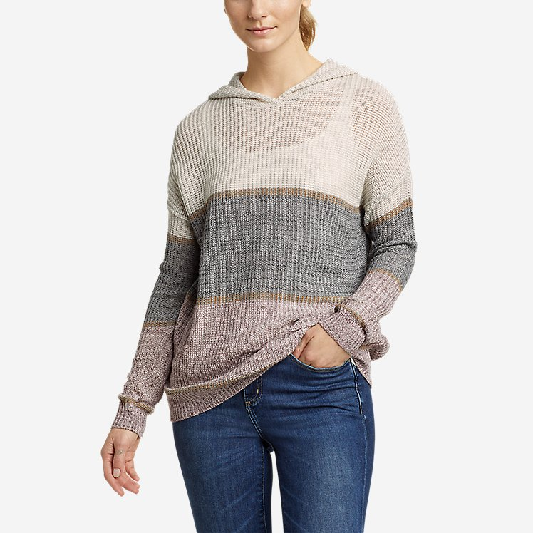 Women's Color-Blocked Pullover Sweater large version
