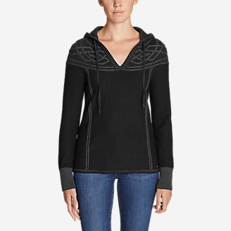 Thumbnail View 1 - Women's Shasta Cable Hoodie Sweater