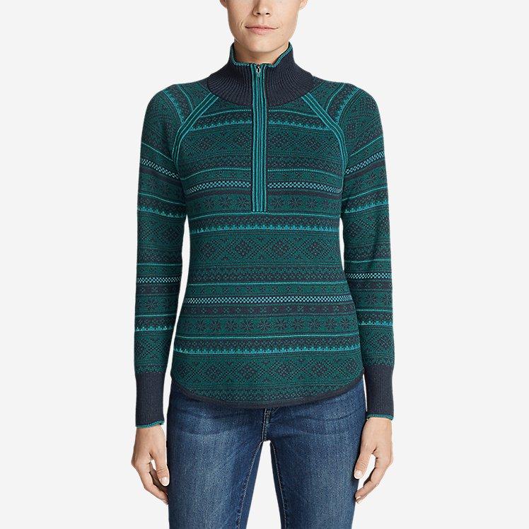 Women's Engage Fair Isle 1/4-Zip Sweater large version