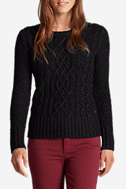 Women's Cable Crewneck Sweater