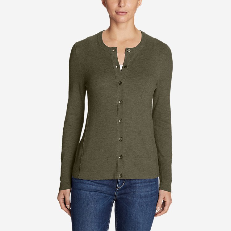 Women's Christine Cardigan Sweater - Solid large version