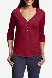 Women's Sweatshirt Sweater - Solid Henley