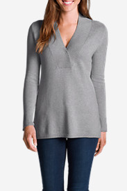 Women's Cross V-Neck Sweatshirt Sweater