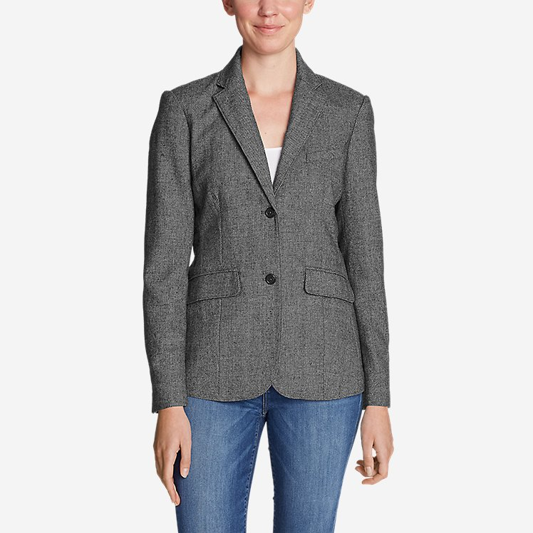 Women's Classic Wool-Blend Blazer - Pattern large version