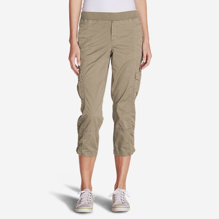 Women's Kick Back Twill Crop Pants large version