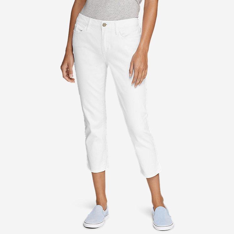Women's StayShape® Crop White Jeans - Curvy large version