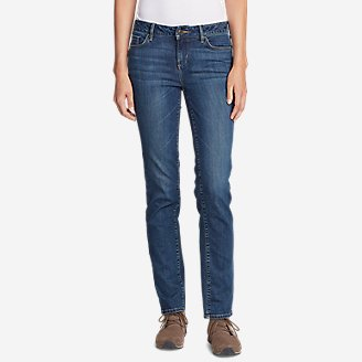 Thumbnail View 1 - Women's Elysian Slim Straight Jeans - Slightly Curvy
